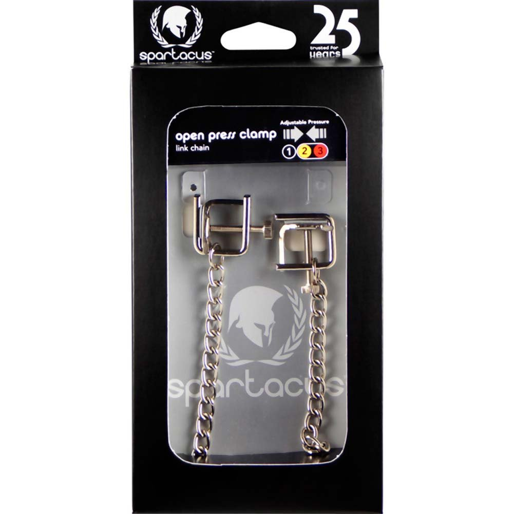 Spartacus Adjustable Press Nipple Clamps with Link Chain - View #4