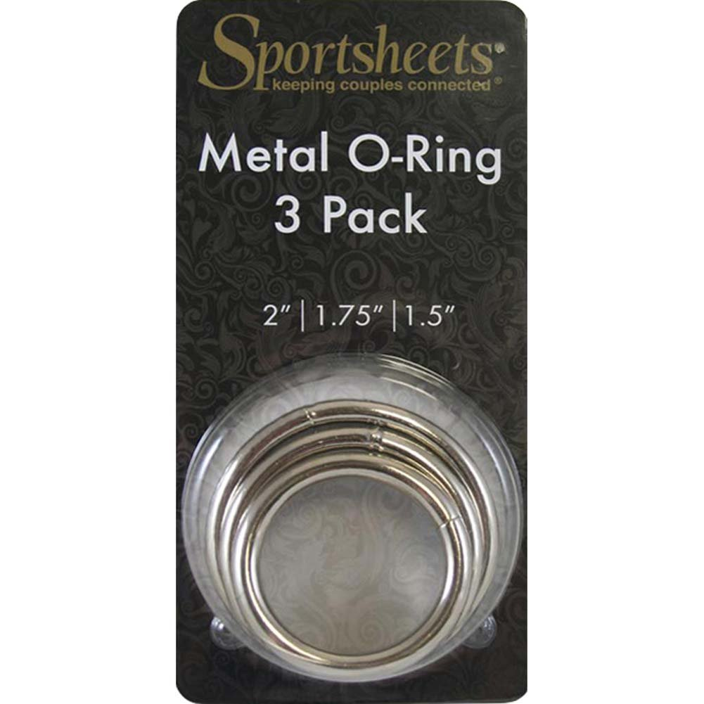 Sportsheets Metal O-Rings 3 Pack Silver - View #1