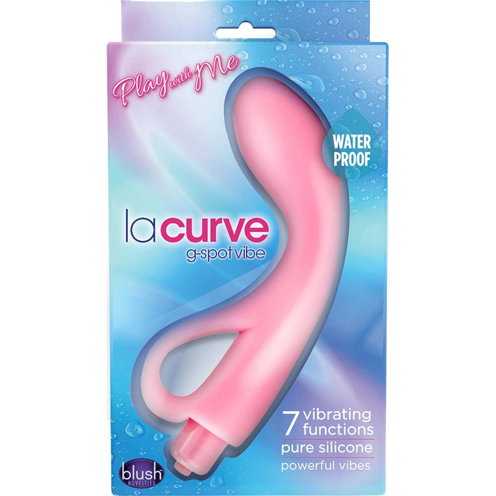 "Blush Play with Me La Curve G-Spot Vibrator 7"" Pink - View #1"