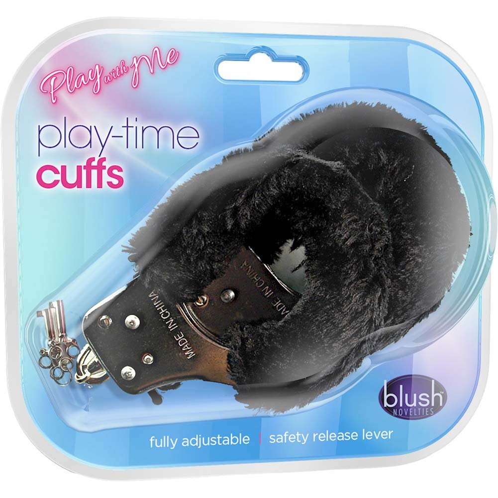 Blush Play with Me Play Time Cuffs Black - View #1