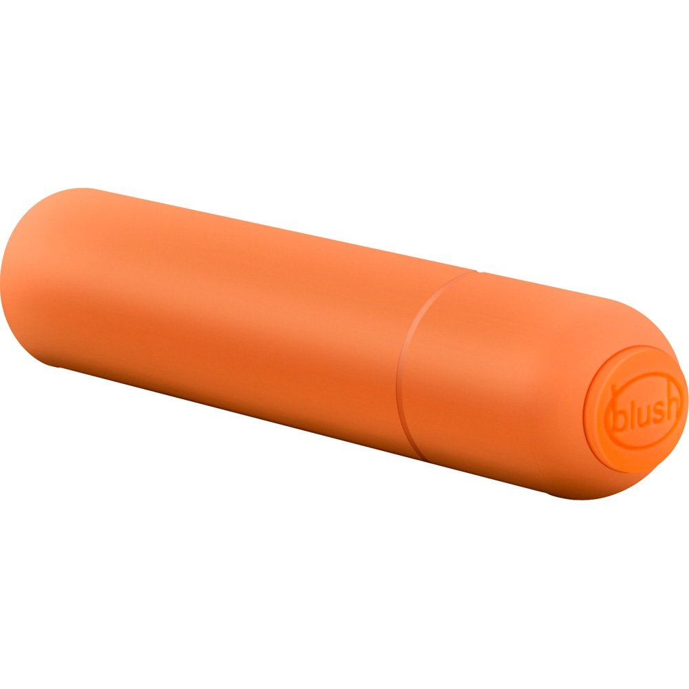 "Blush Pop Vibe 7 Speed Waterproof Bullet with Smooth Coating 3"" Orange - View #4"