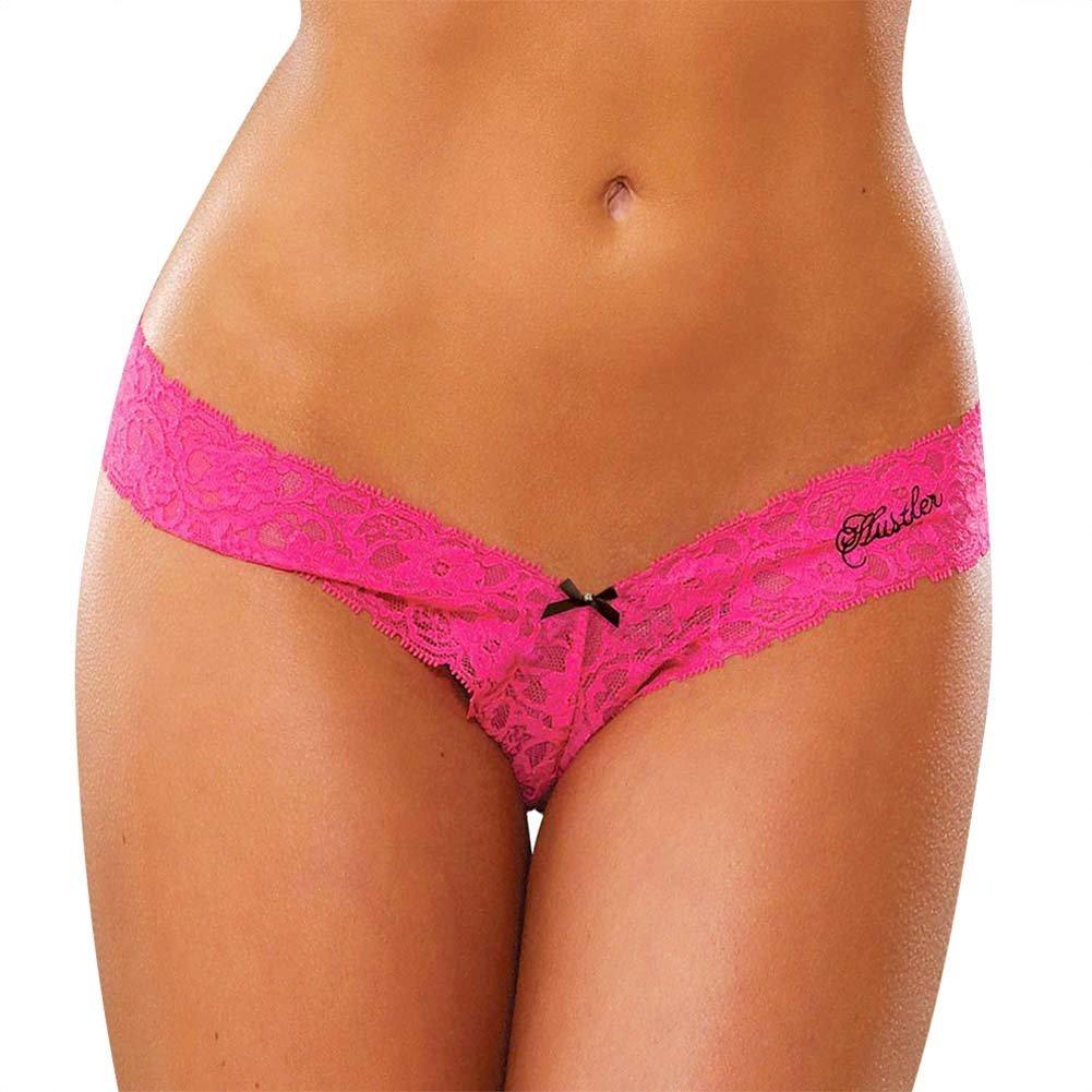 Hustler Lace Thong Medium/Large Pink - View #1