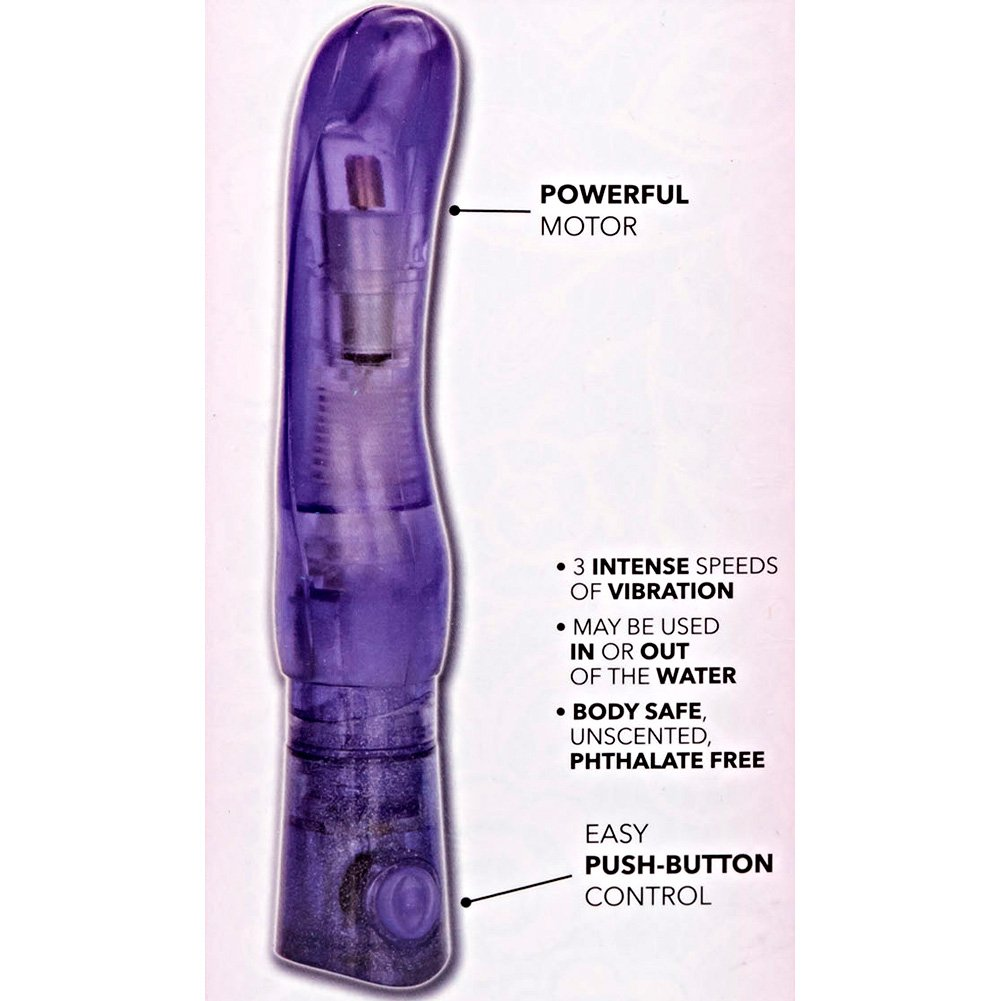 "California Exotics First Time Solo Exciter Intimate Vibrator 7.5"" Purple - View #1"