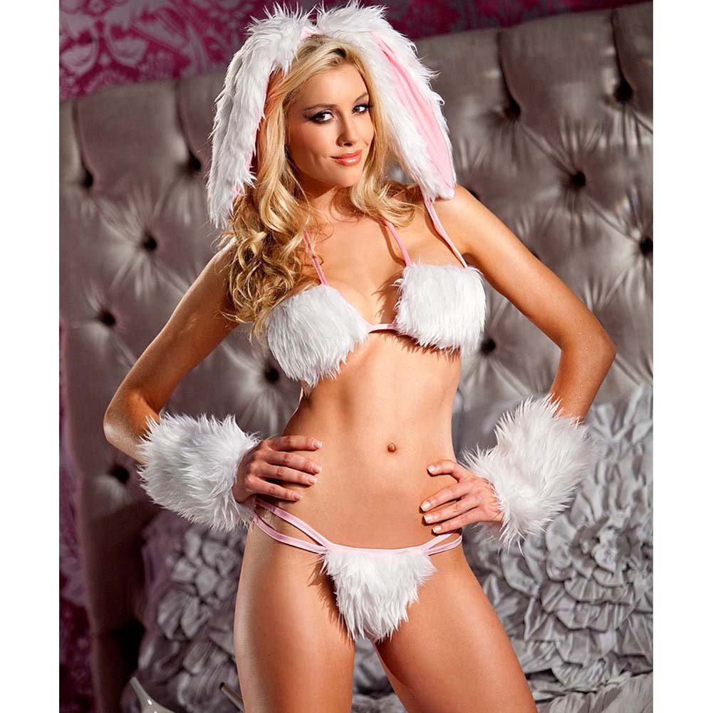 Be Wicked Playful Bunny Costume 4 Pieces Set Medium/Large - View #3