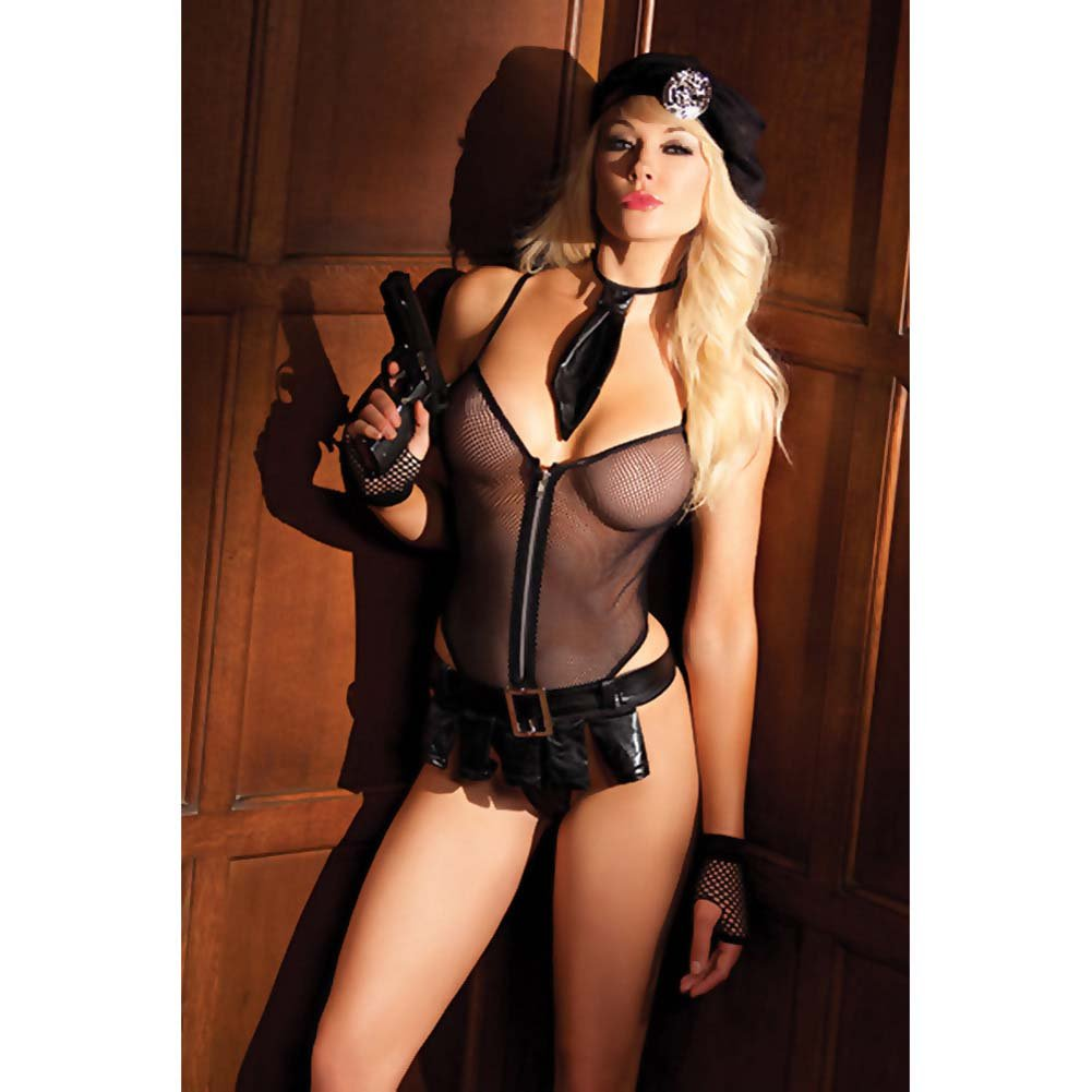 Be Wicked Bedroom Cop Costume 5 Pieces Set Medium/Large - View #3