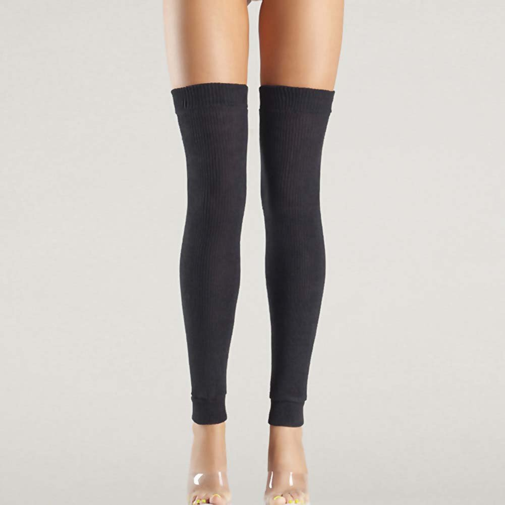 Be Wicked Thigh High Leg Warmer One Size Black - View #2