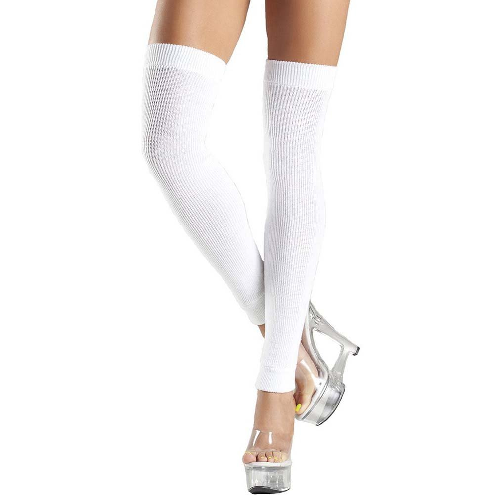 Be Wicked Thigh High Leg Warmer One Size White - View #1