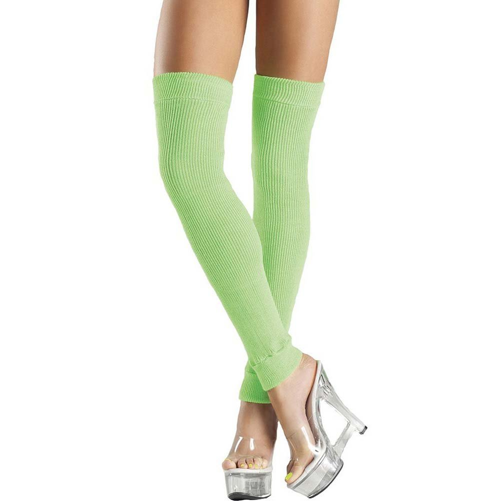 Be Wicked Thigh High Leg Warmer One Size Green - View #1