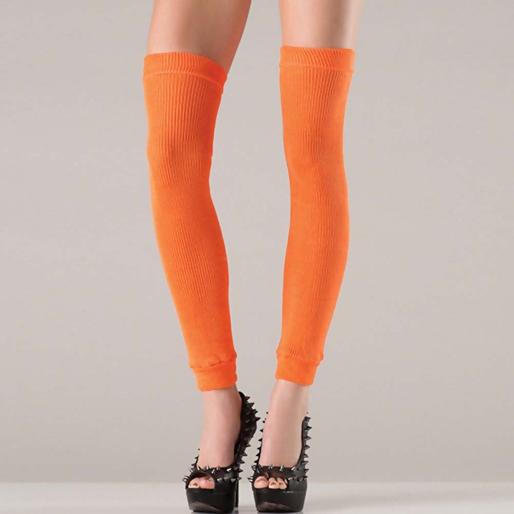 Be Wicked Thigh High Leg Warmer One Size Orange - View #2