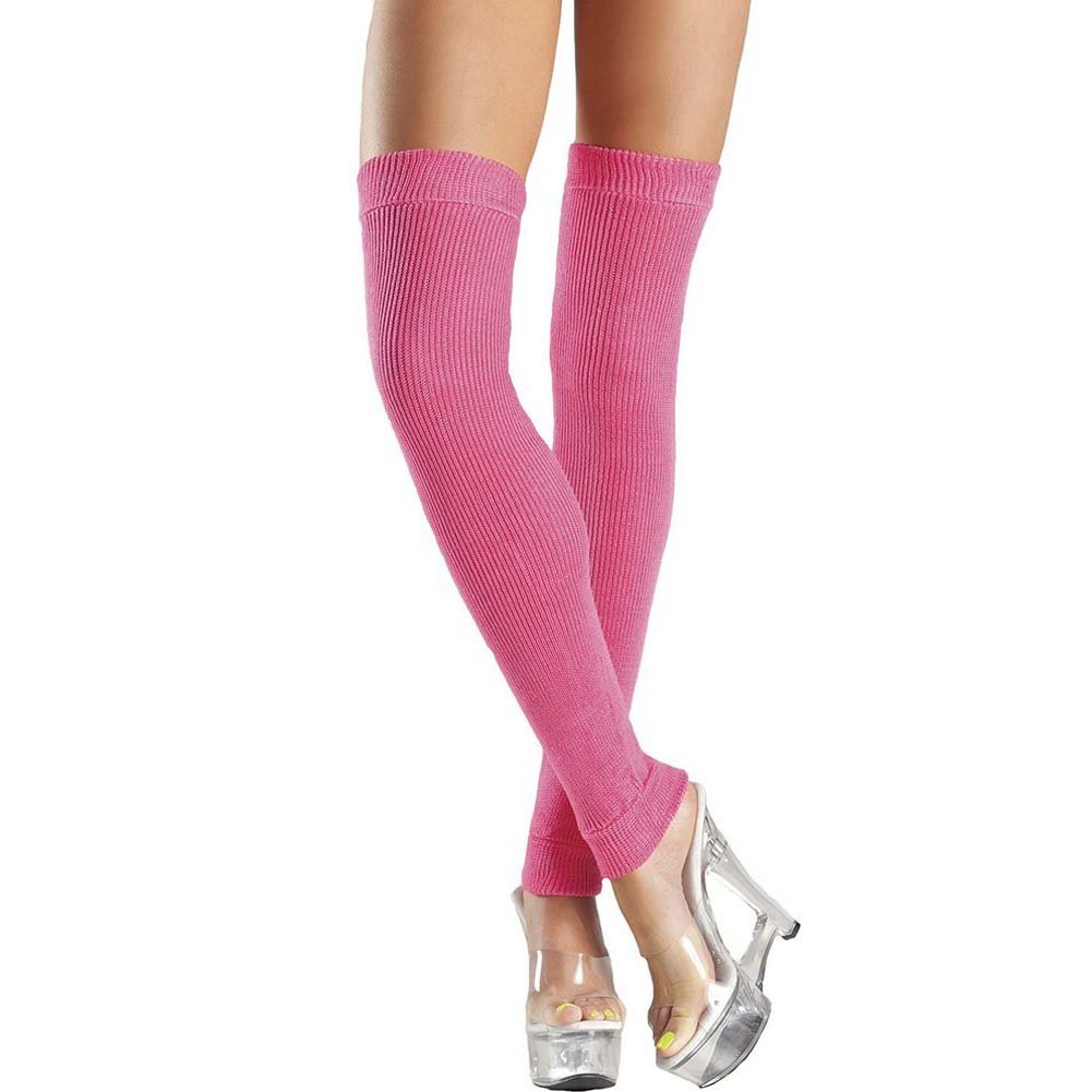 Be Wicked Thigh High Leg Warmer One Size Hot Pink - View #1