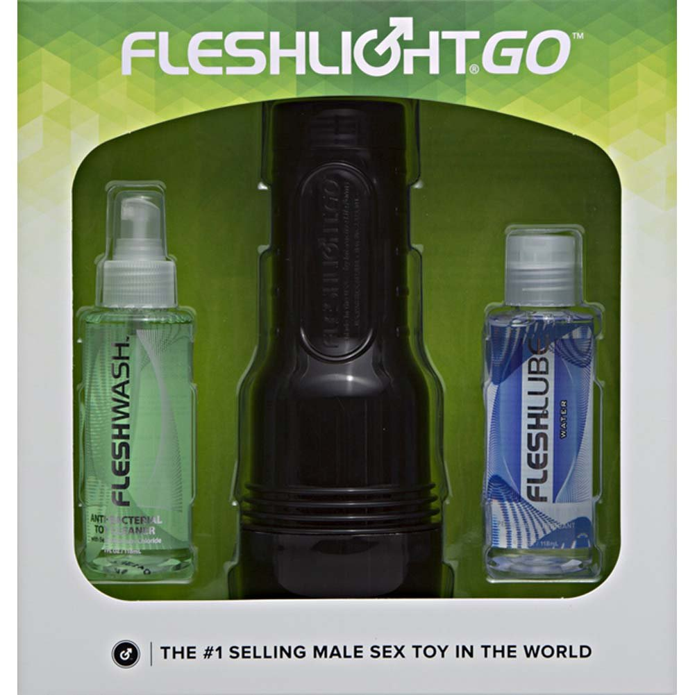 Fleshlight GO Surge Combo Pack with Vagina Masturbator Toy Cleaner Water-Based Lube - View #1