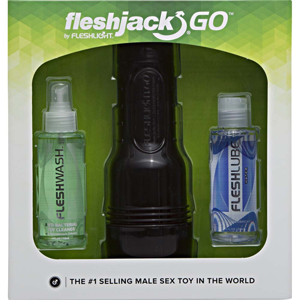 Fleshjack GO Surge Combo Pack with Anal Masturbator Toy Cleaner Water-Based Lube - View #1