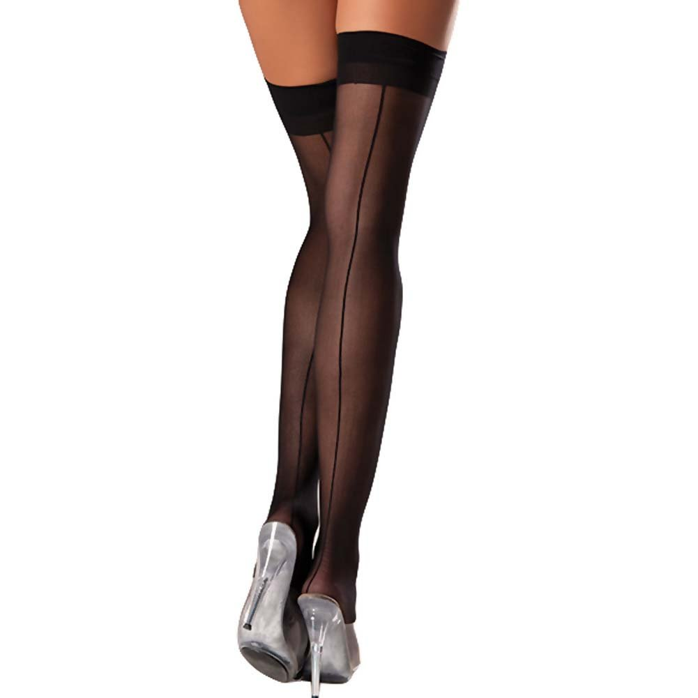 Be Wicked Sheer Backseam Stocking One Size Black - View #1