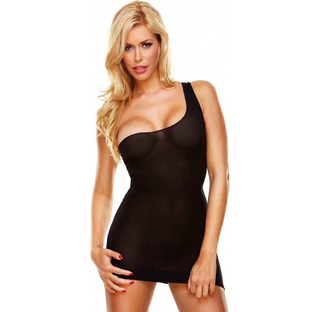 Hustler Seamless Sheer Mini Dress One Size Black - View #1