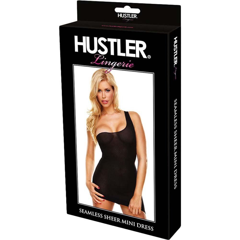 Hustler Seamless Sheer Mini Dress One Size Black - View #3
