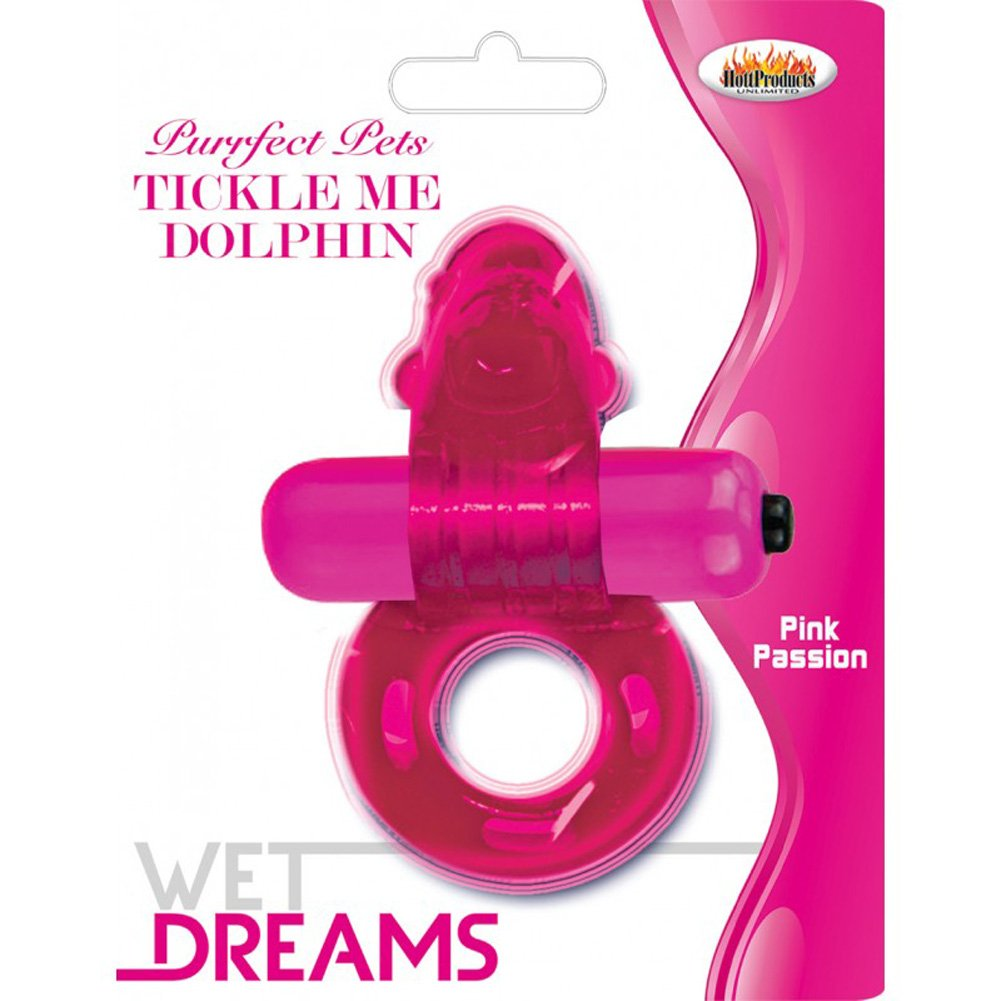 Purrfect Pets Tickle Me Dolphin Vibrating Cockring Pink - View #1