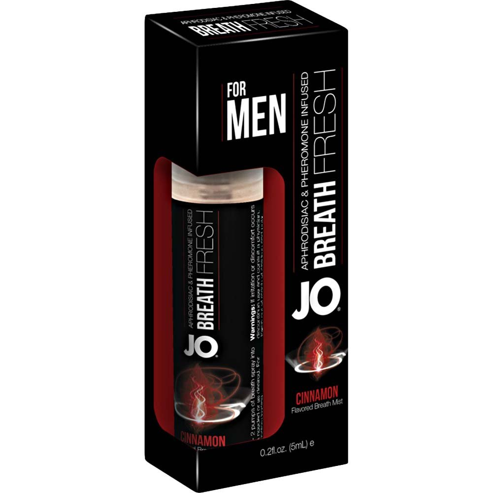 JO for MEN Breath Fresh Mist with Pheromone 0.2 Fl.Oz 5 mL Cinnamon - View #1