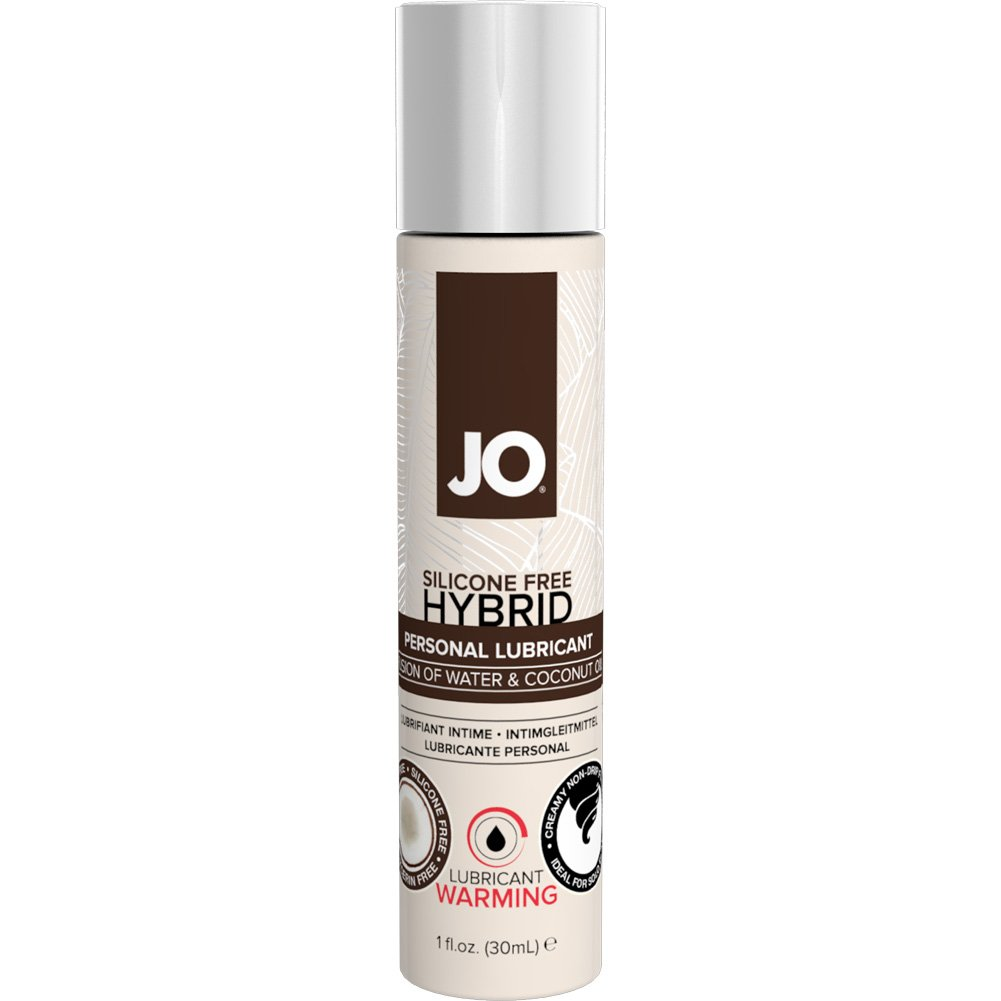 JO Silicone Free Hybrid Lubricant with Coconut Warming 1 Fl. Oz. 12 Pieces Display Box - View #1