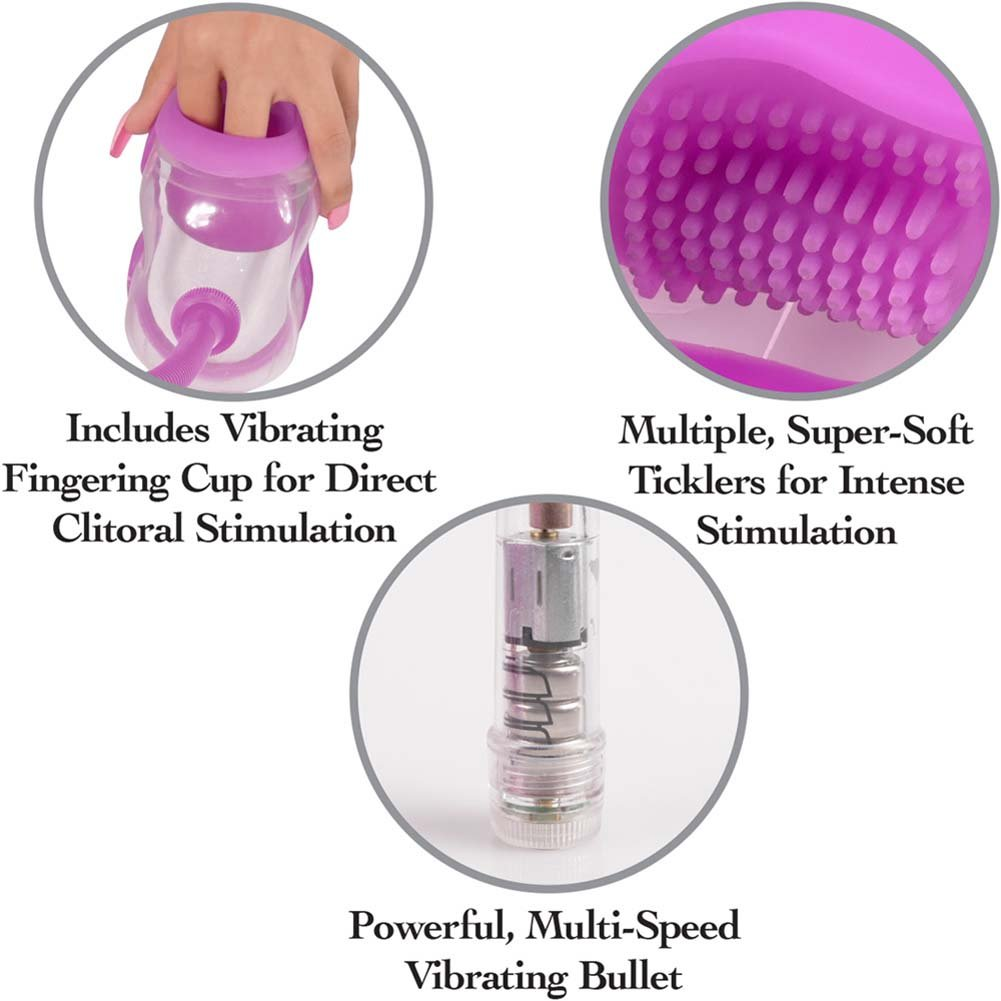Fetish Fantasy Perfect Touch Vibrating Pussy Pump Purple - View #2