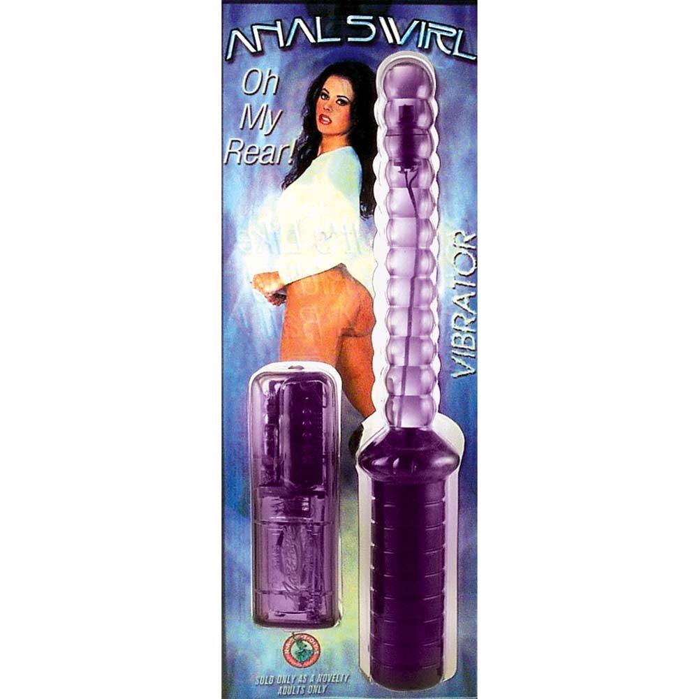 "Variable Speed Vibrating Anal Swirl Pleasure Baton 10"" Purple - View #1"