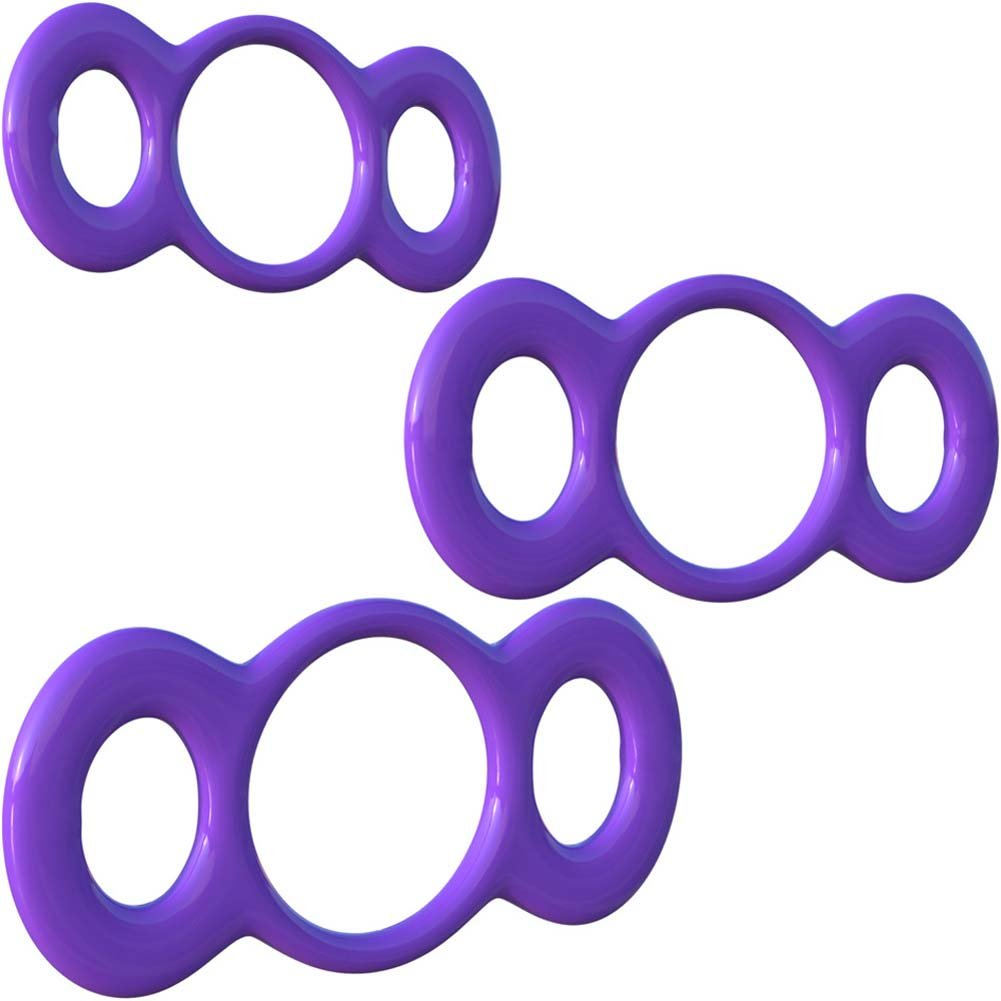 Fantasy C-Ringz 3-Ring Quick Release Trainer Purple - View #2