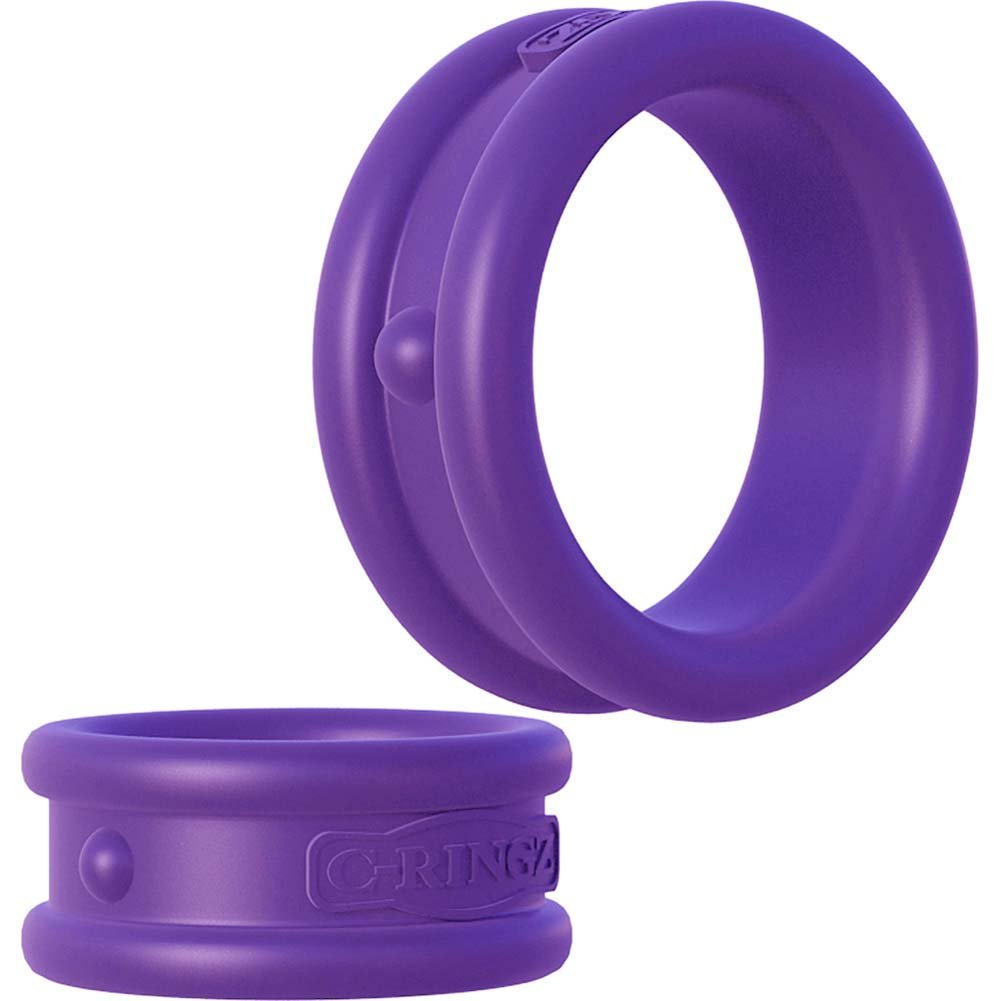 Fantasy C-Ringz Max Width Silicone Rings Purple - View #3