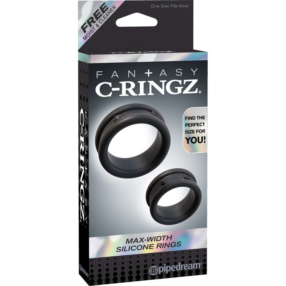 Fantasy C-Ringz Max-Width Silicone Rings Black - View #4