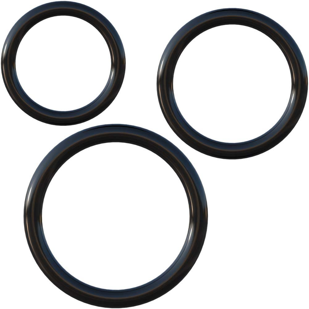 Fantasy C-Ringz Silicone 3 Piece Stamina Set Black - View #2
