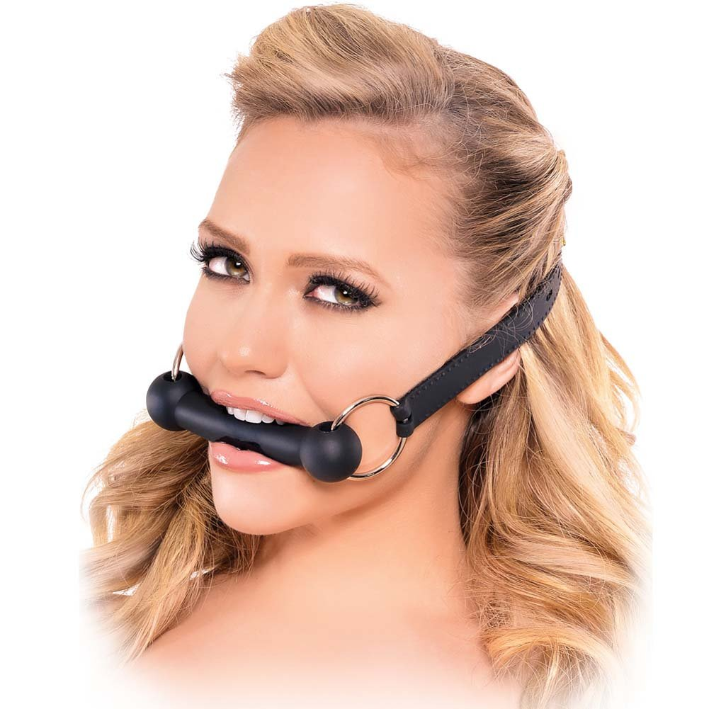 Fetish Fantasy Series Silicone Bit Gag Black - View #2