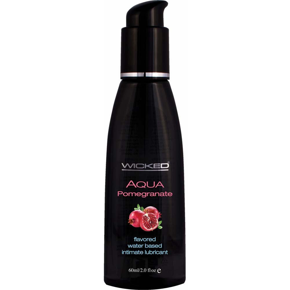 Wicked Aqua Pomegranate Flavored Water Based Lubricant 2 Fl. Oz. - View #1