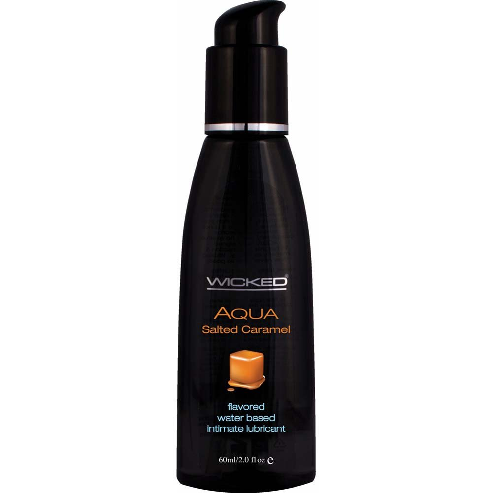 Wicked Aqua Salted Caramel Flavored Water Based Lubricant 2 Fl. Oz. - View #1