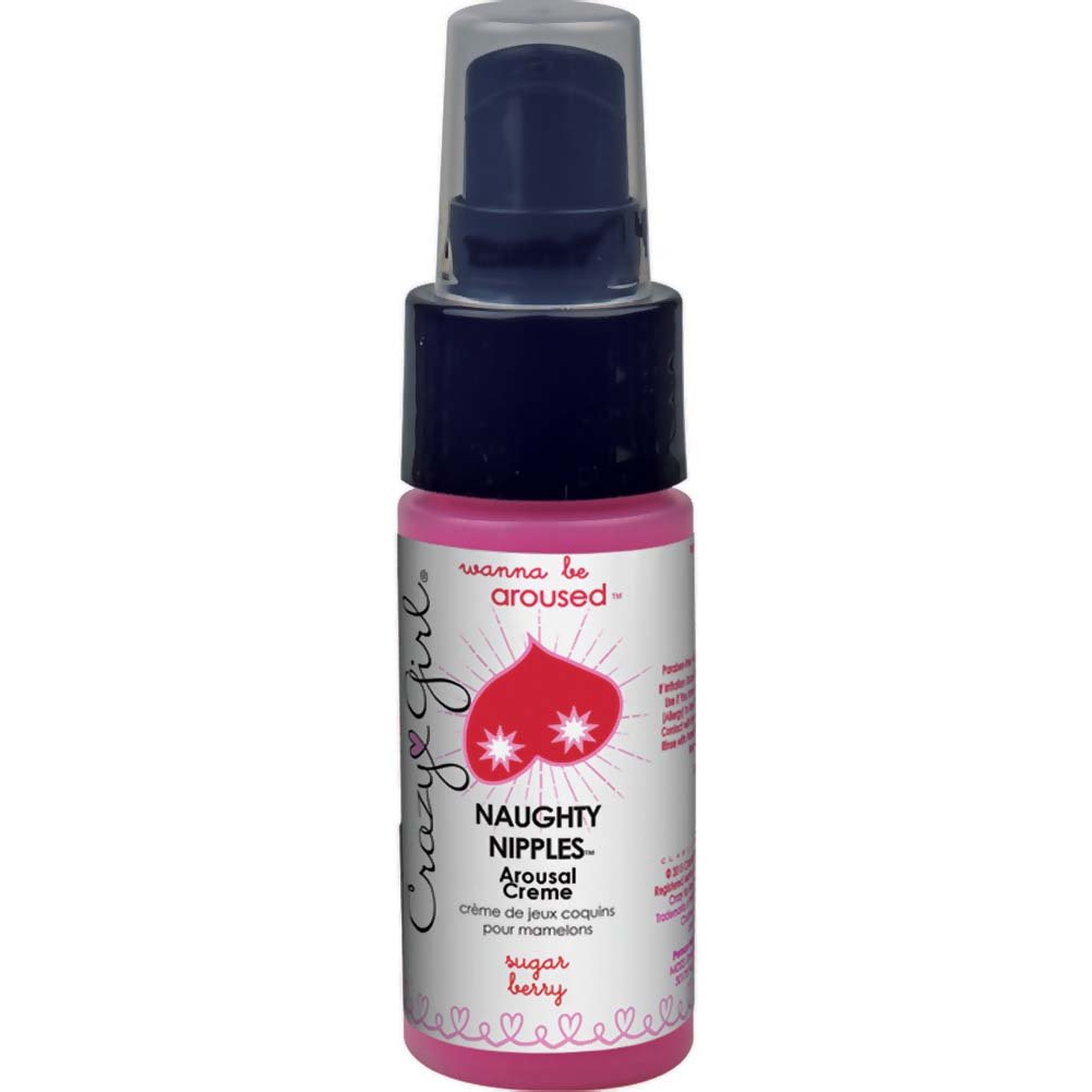 Crazy Girl Wanna Be Aroused Naughty Nipples Arousal Creme Sugar Berry 1 Fl. Oz. Pump Bottle - View #1