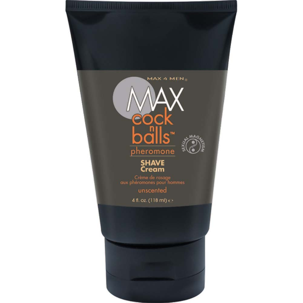 MAX Cock N Balls Shave Cream with Pheromones Unscented 4 Fl. Oz. Tube - View #1