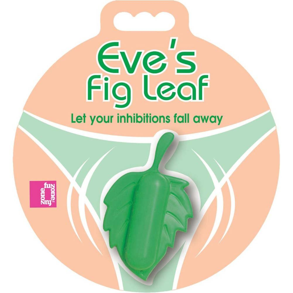 FunZone EveS Fig Leaf Panty USB Rechargeable Vibrator Green - View #1