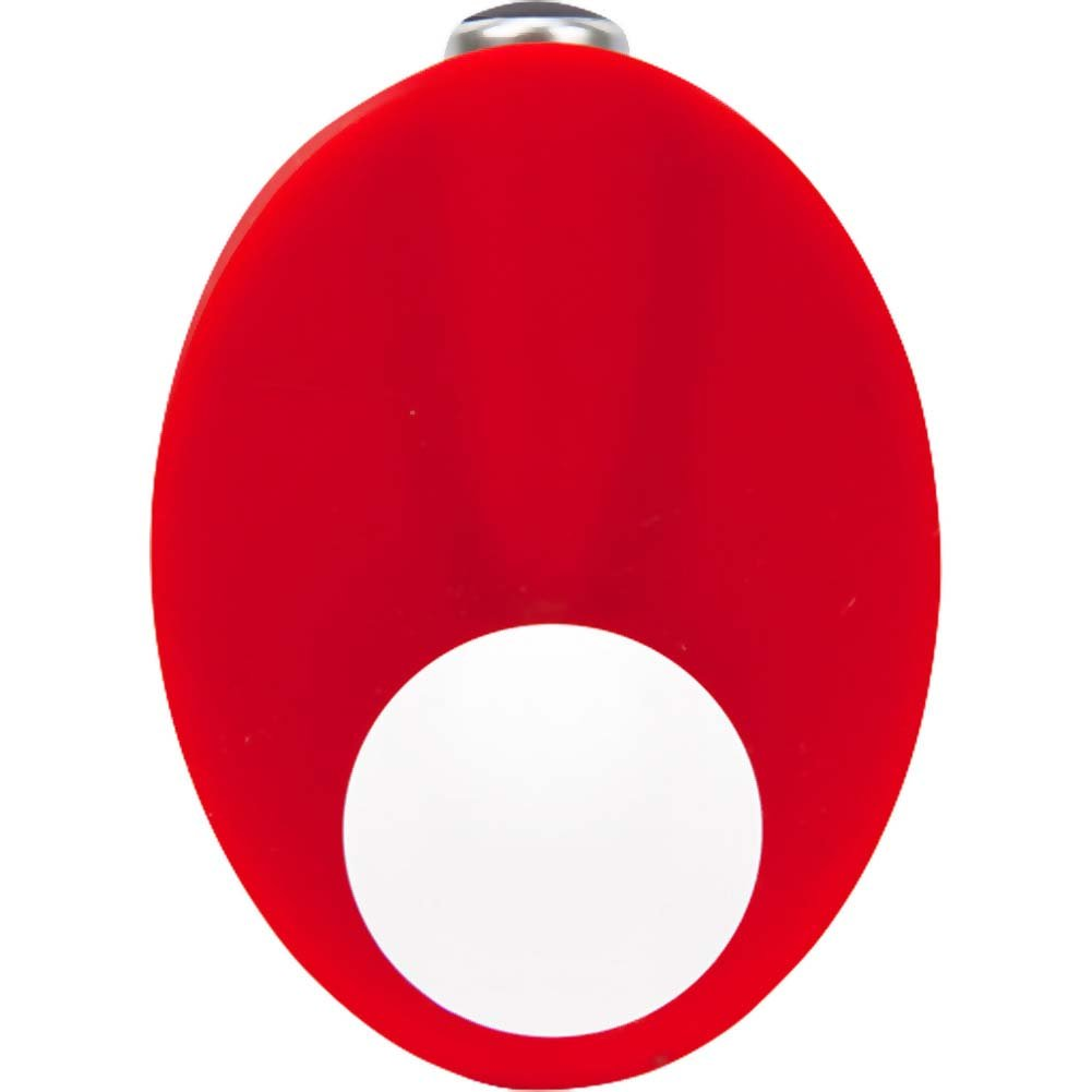 Caliber Vibrating Silicone Cock Ring Red - View #2