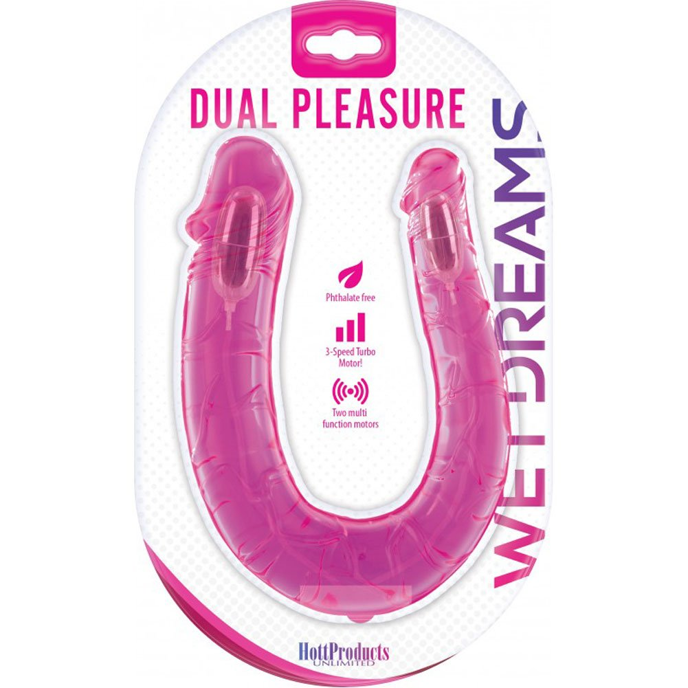 "Wet Dreams Dual Pleasure Personal Vibrator 12"" Pink Passion - View #1"