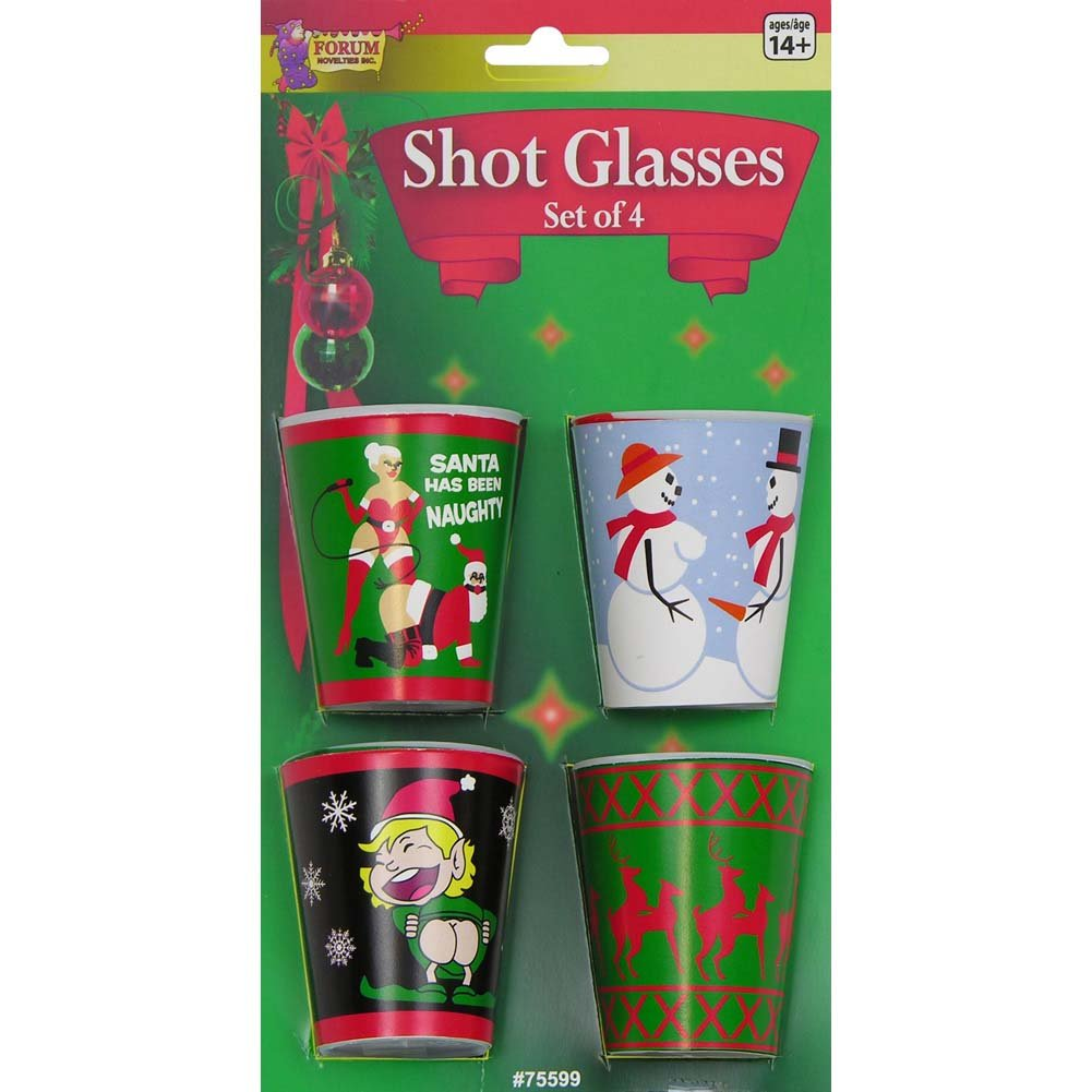 Christmas X-Rated Shot Glasses Set of 4 - View #1