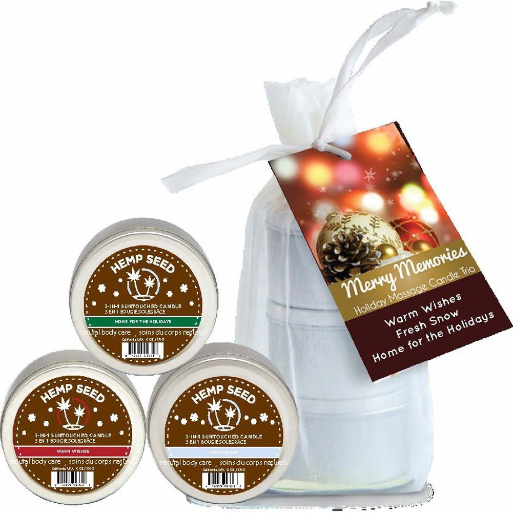 Earthly Body Holiday Massage Candle Trio - View #1