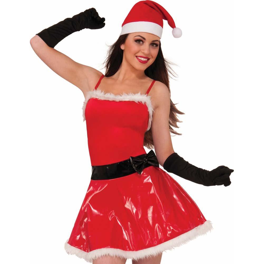 Naughty Girl Sassy Santa Costume Medium/Large Red and White - View #2