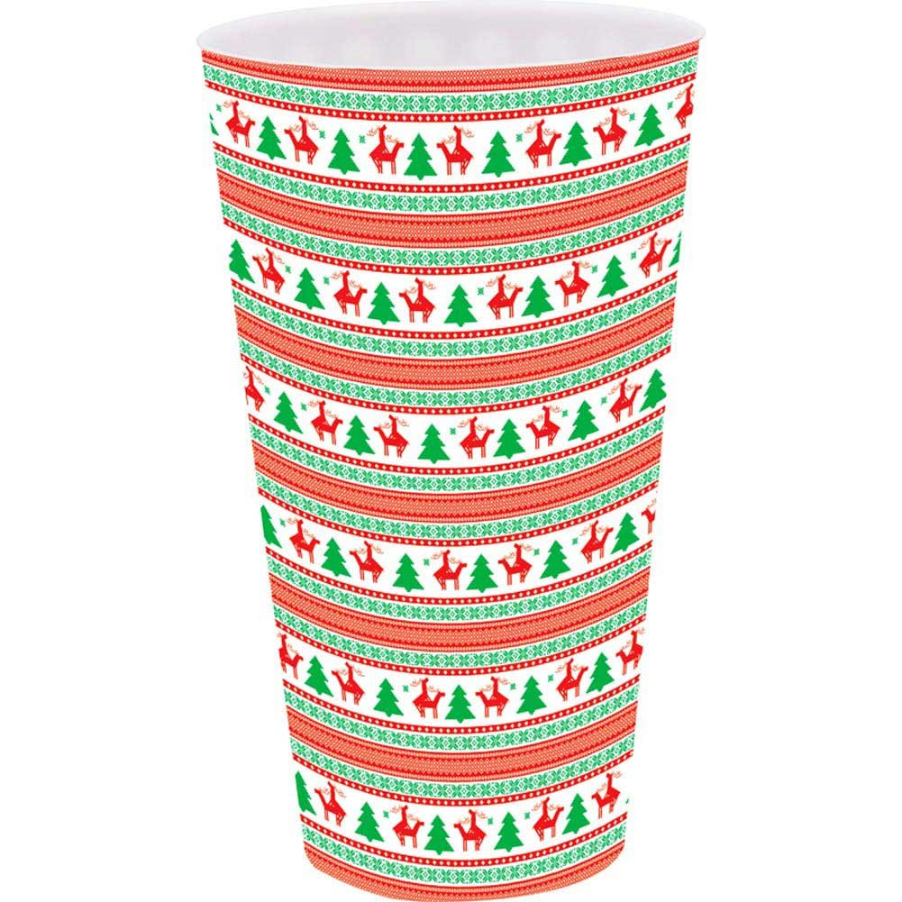 Christmas Tree and Reindeer Christmas Plastic Cup - View #1
