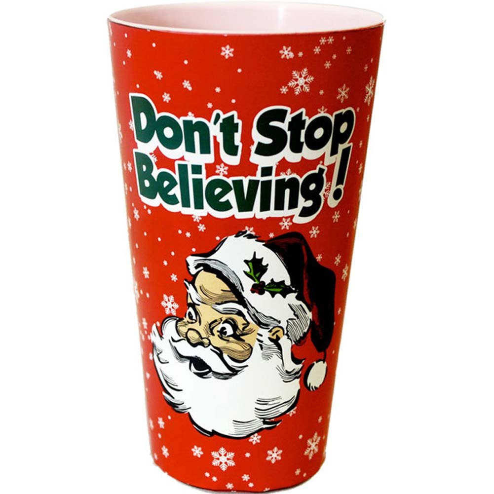DonT Stop Believing Christmas Plastic Cup - View #1