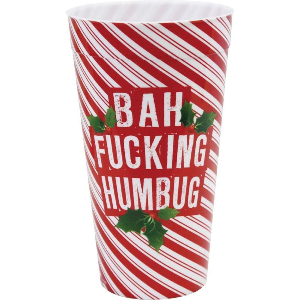 Bah Fucking Humbug Christmas Plastic Cup - View #1