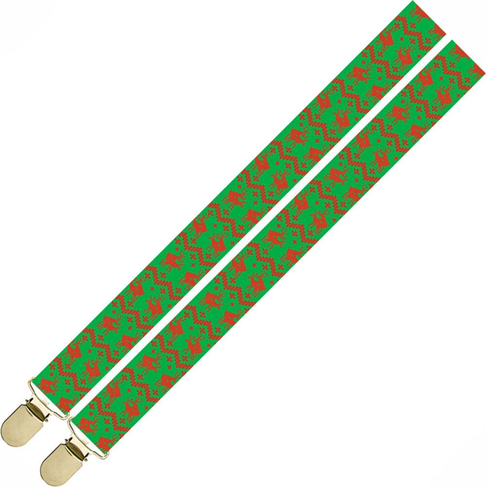 Reindeer Christmas Holiday Suspenders One Size - View #1