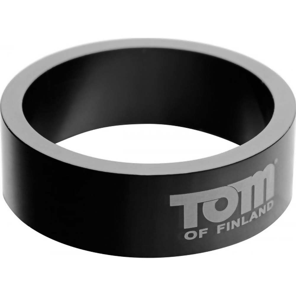 Tom of Finland Aluminum Cock Ring 60 Mm Black - View #2