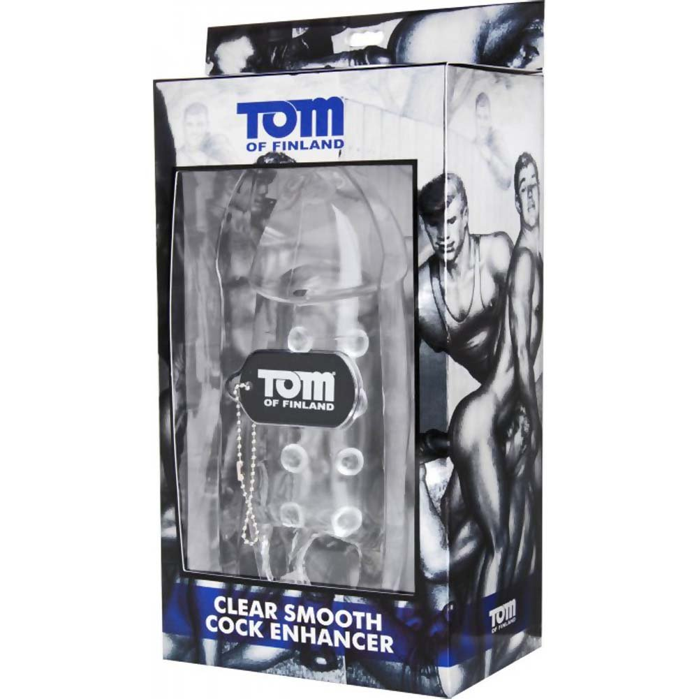 "Tom of Finland Smooth Cock Enhancer 8"" Clear - View #1"