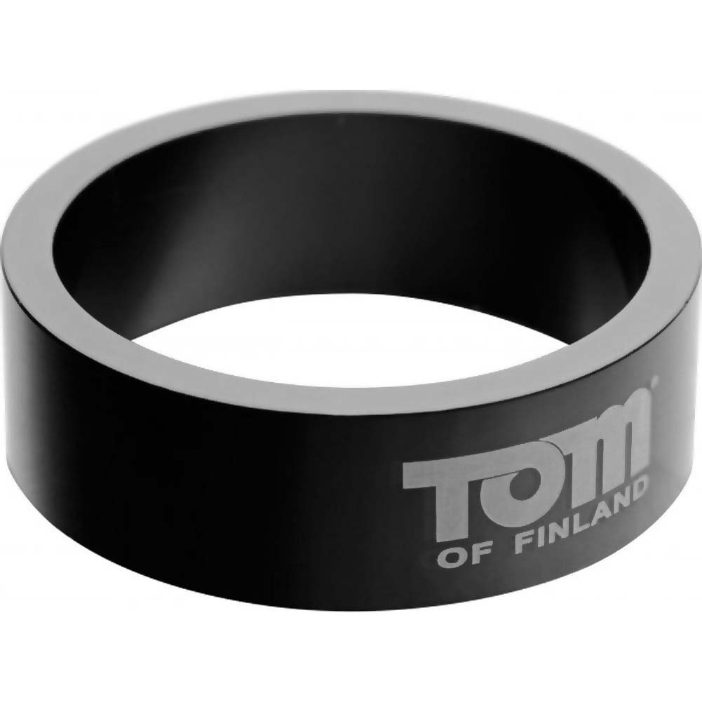 Tom of Finland Aluminum Cock Ring 50 Mm Black - View #2