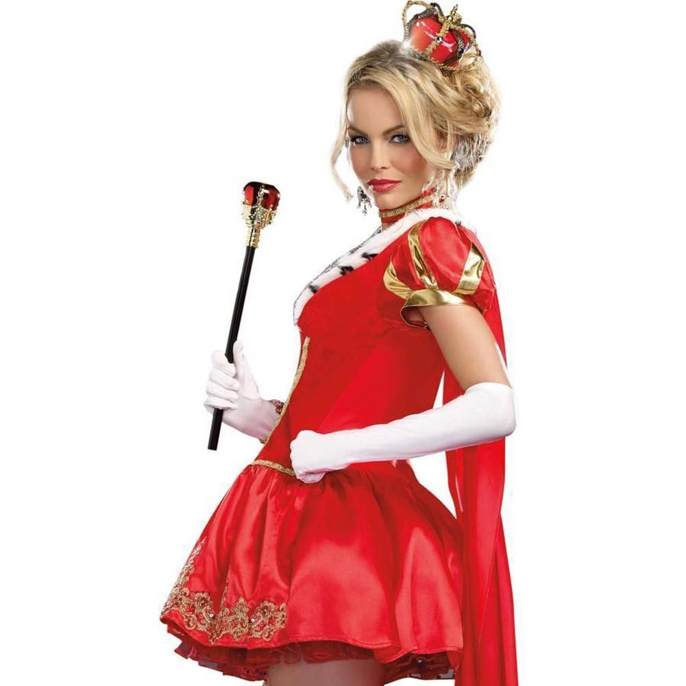 Dreamgirl WomenS Sexy Queen Costume the Royals Small Red - View #4
