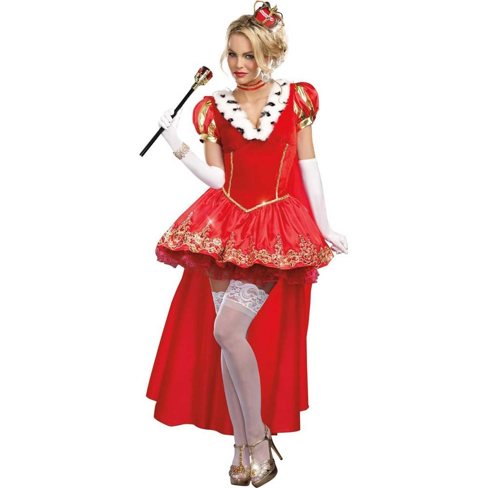 Dreamgirl the Royals Sexy French Queen Costume Medium Red - View #1