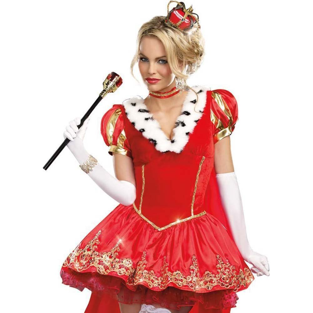Dreamgirl the Royals Sexy French Queen Costume Medium Red - View #3