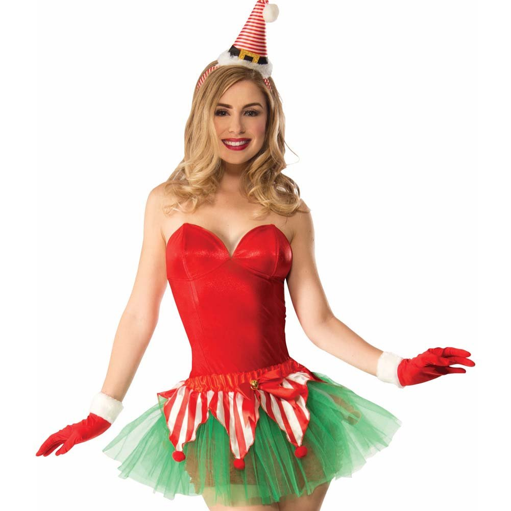 Christmas Candy Cane Tutu Costume One Size Red/Green - View #2